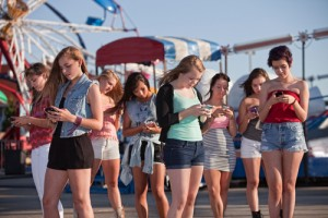 Teen Girls Text Messaging